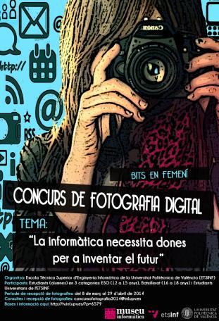 I Concurs de fotografia digital Bits en Femení: La informàtica necessita dones per a inventar el futur